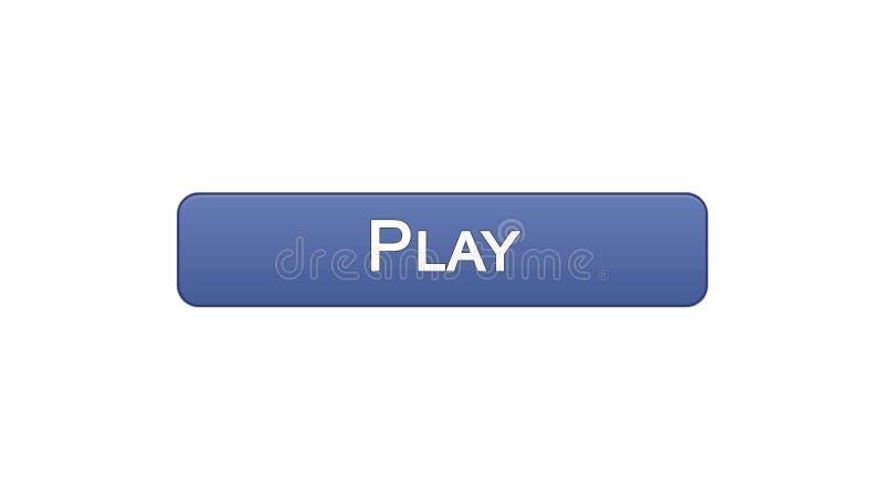 Jogue a cor violeta do botão da relação da Web, aplicação do jogo online, programa video ilustração do vetor