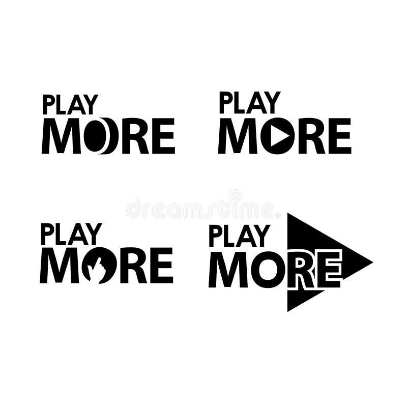 Jogue mais Ilustra??o criativa do vetor da rotula??o Ilustra??o no formato do vetor ilustração do vetor