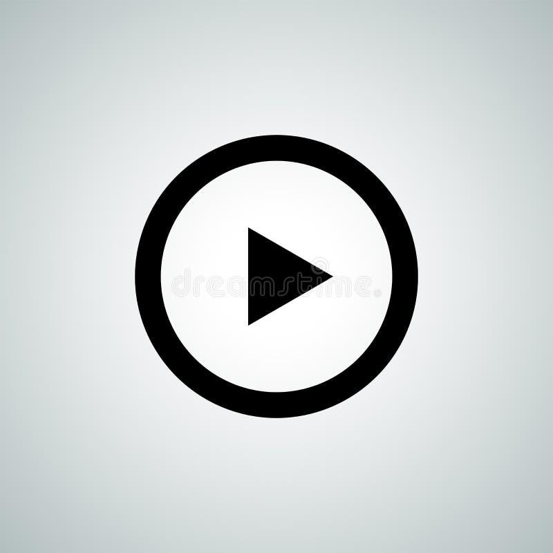 Jogue o ícone do vetor do botão para o reprodutor multimedia audio video ilustração royalty free