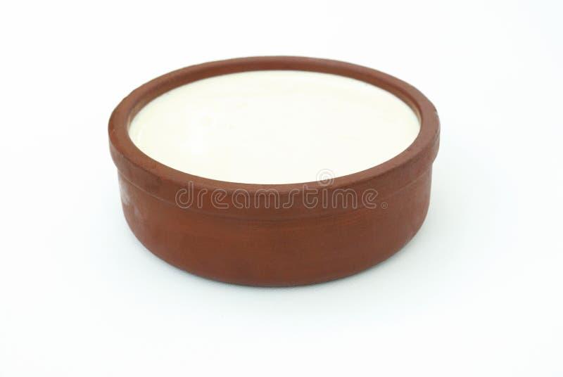Jogurt in einer Schüssel stockfotografie