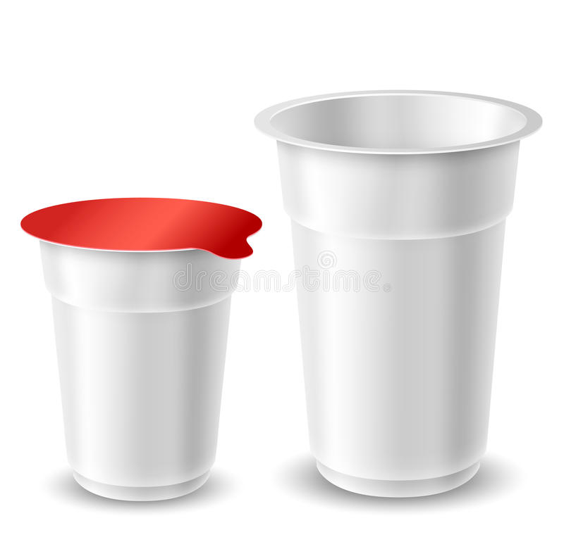 Jogurt filiżanki royalty ilustracja