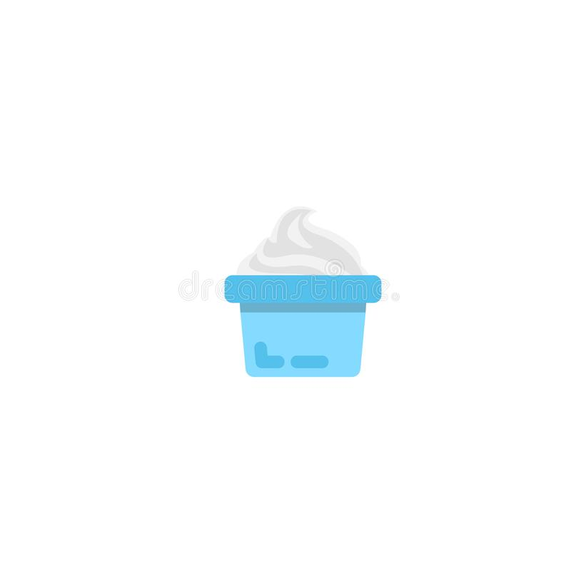 Jogurtikone Isometrische Illustration des Joghurts vektor abbildung