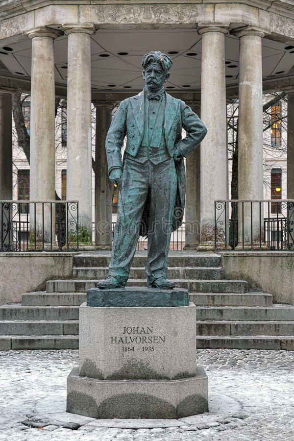 Johan Halvorsen-Statue in Oslo, Norwegen stockfoto