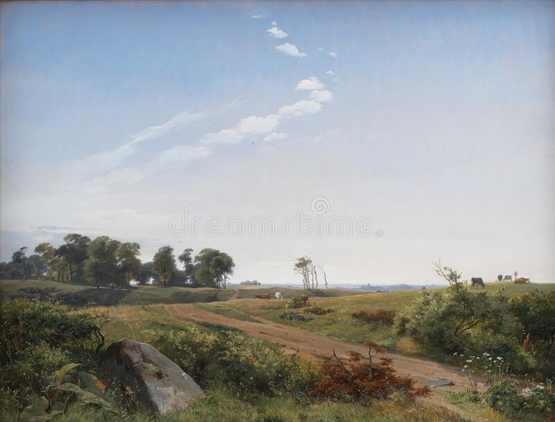 Johan Thomas Lundbye (1818-48) Zealand Landscape. Open Country In North Zealand, 1842. Kms402 Free Public Domain Cc0 Image