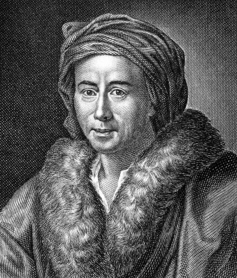 Johann Joachim Winckelmann immagini stock libere da diritti
