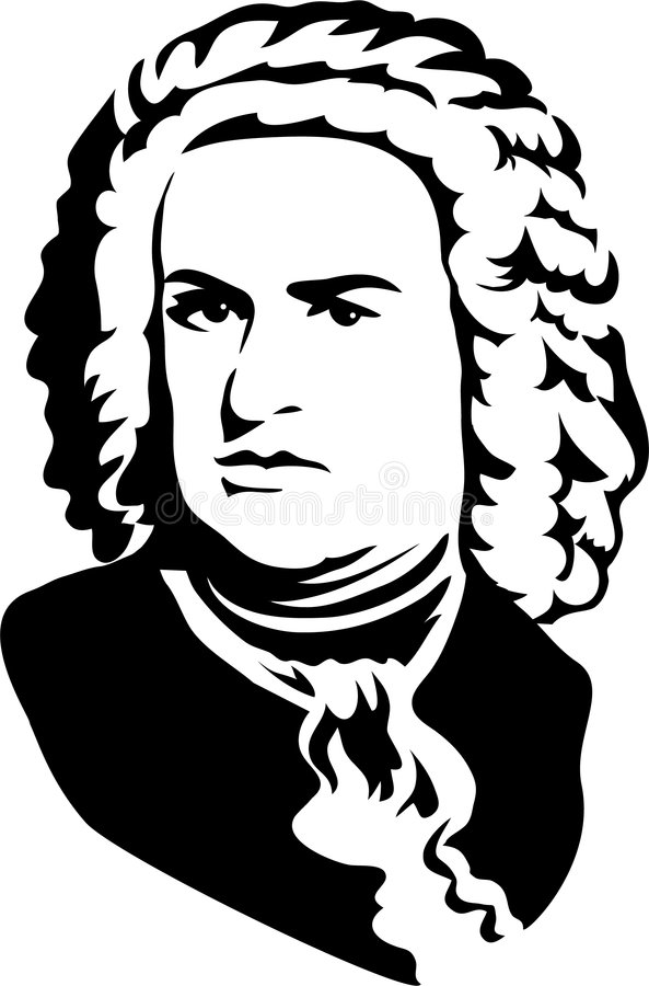Johann Sebastian Bach/eps vector illustratie
