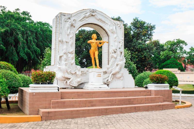 Johann Strauss statue in Mini Siam Park royalty free stock photo