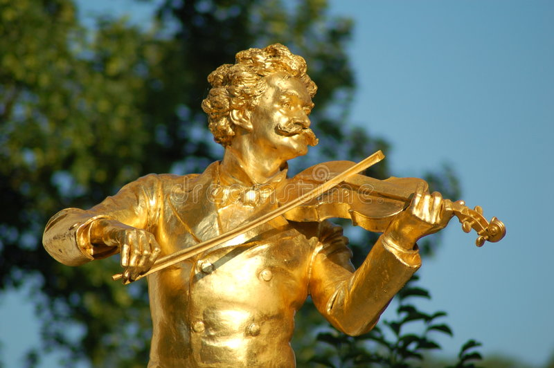 Johann Strauss Wien lizenzfreie stockbilder