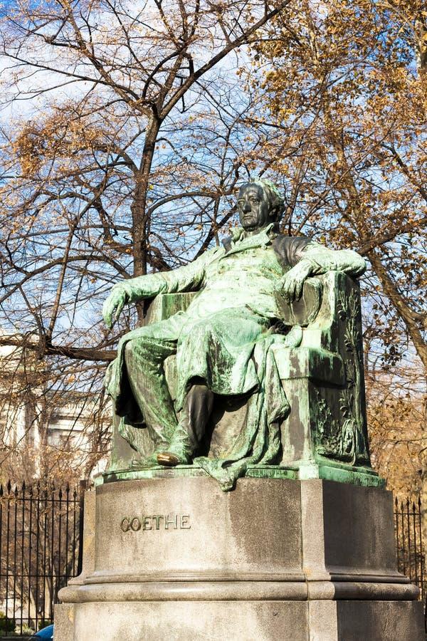 Johann Wolfgang Goethe& x27; y la estatua de x27; Viena, Austria imagen de archivo