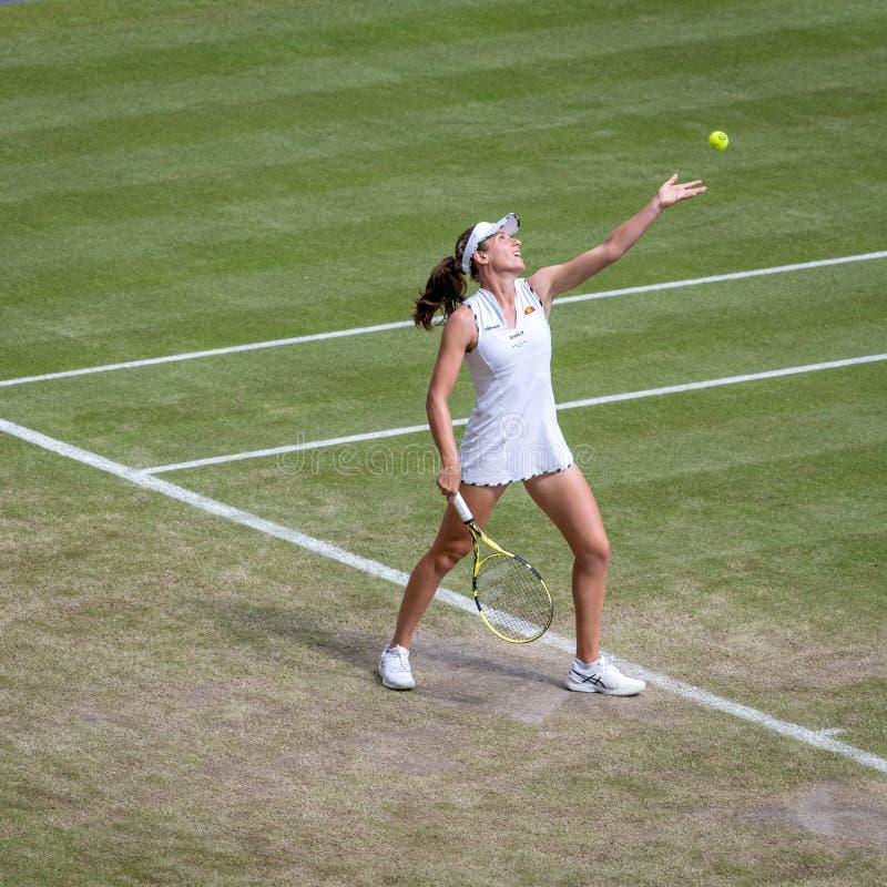 Johanna Konta σε Wimbledon στοκ εικόνα