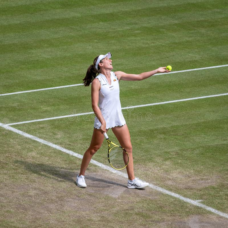 Johanna Konta på Wimbledon royaltyfri bild