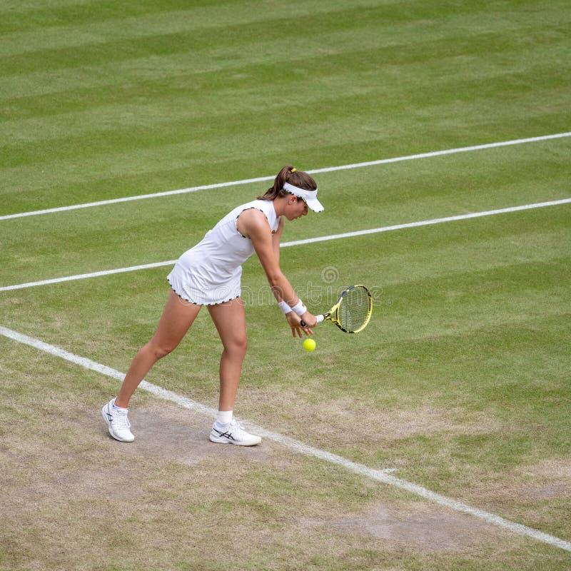 Johanna Konta på Wimbledon arkivbild