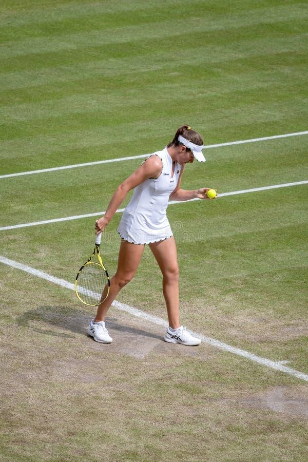 Johanna Konta på Wimbledon arkivfoto