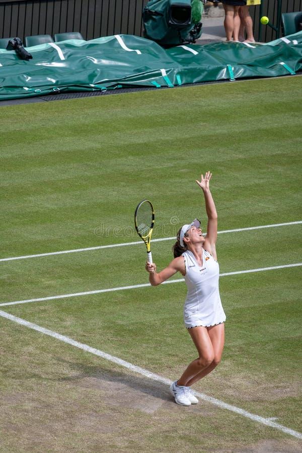 Johanna Konto przy Wimbledon fotografia royalty free