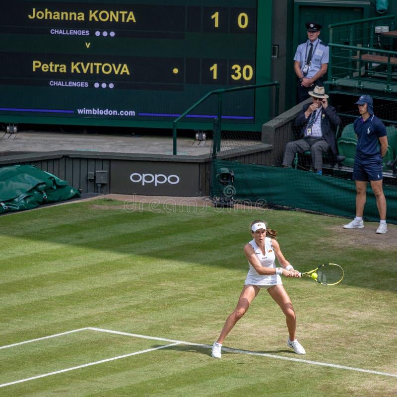 Johanna Konto przy Wimbledon fotografia stock