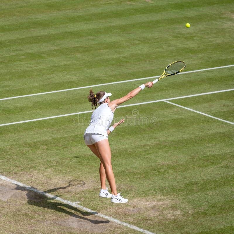 Johanna Konto przy Wimbledon zdjęcie stock