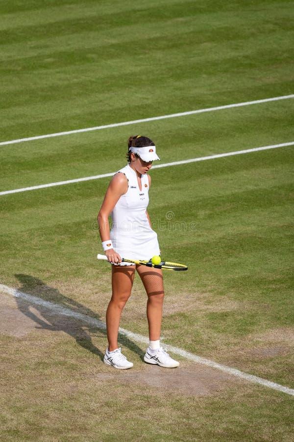 Johanna Konto przy Wimbledon zdjęcia royalty free