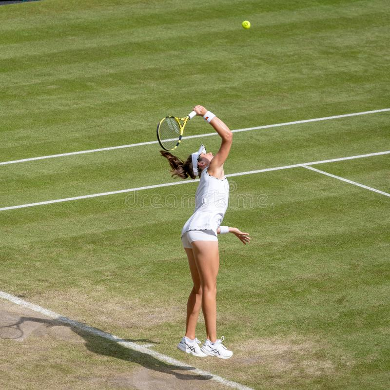 Johanna Konto przy Wimbledon zdjęcie royalty free