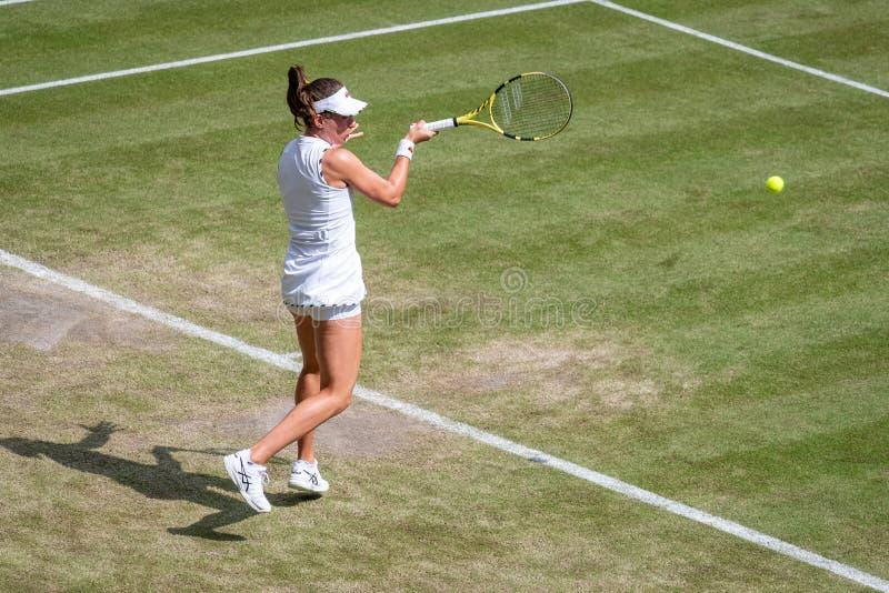 Johanna Konto przy Wimbledon obraz royalty free