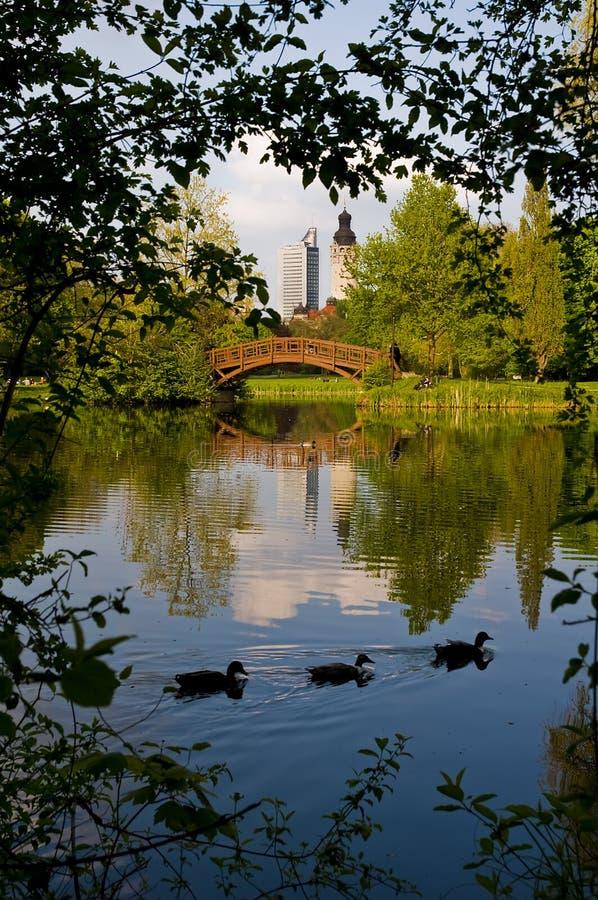 Johanna-Park in Leipzig stockfotografie