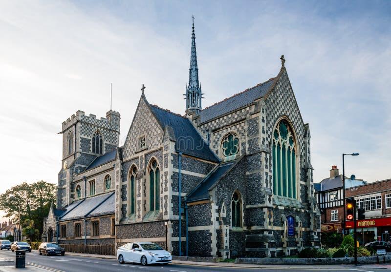Johannes Baptist Church, wenn Barnet abgebrochen wird lizenzfreies stockfoto