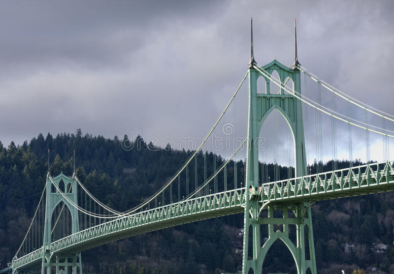 Johannes Brücke in Portland Oregon, USA. stockbild