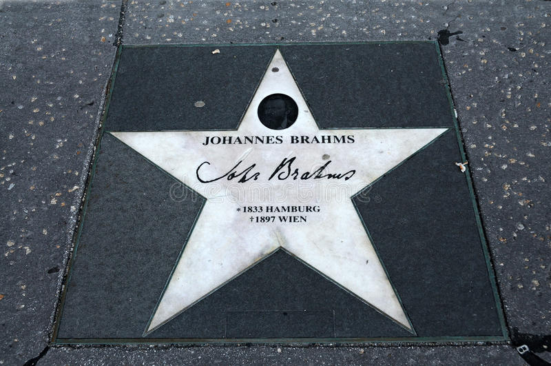 Johannes Brahms fotografia stock libera da diritti