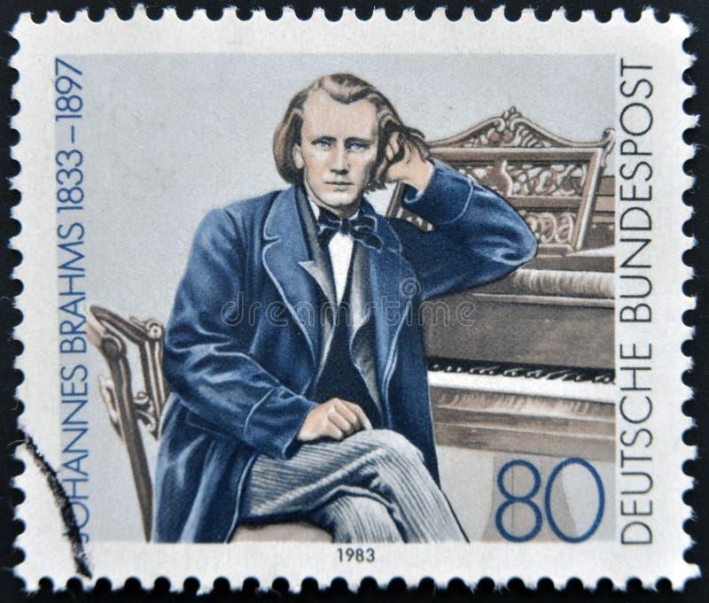 Johannes Brahms στοκ εικόνα