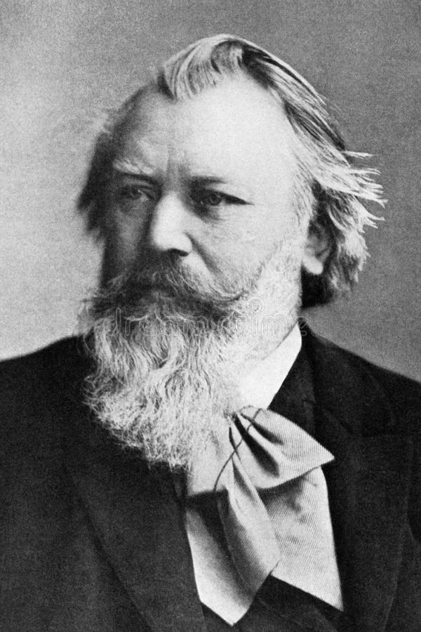 Johannes Brahms fotografía de archivo