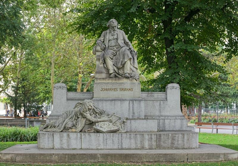 Johannes Brahms Monument στη Βιέννη, Αυστρία στοκ φωτογραφία με δικαίωμα ελεύθερης χρήσης