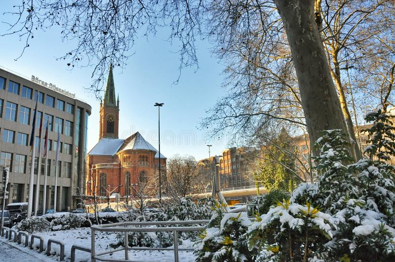 Johannes Church a Dusseldorf fotografie stock