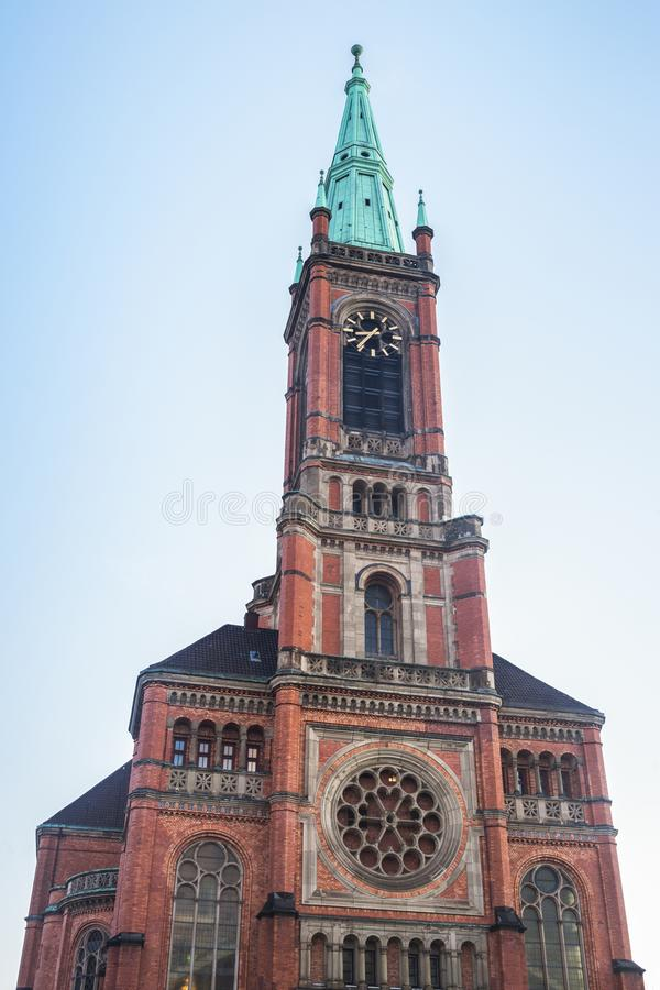Johannes Church i Dusseldorf arkivbild