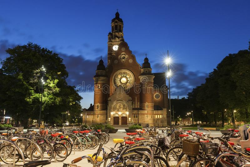 Johannes Church i Malmo royaltyfria foton