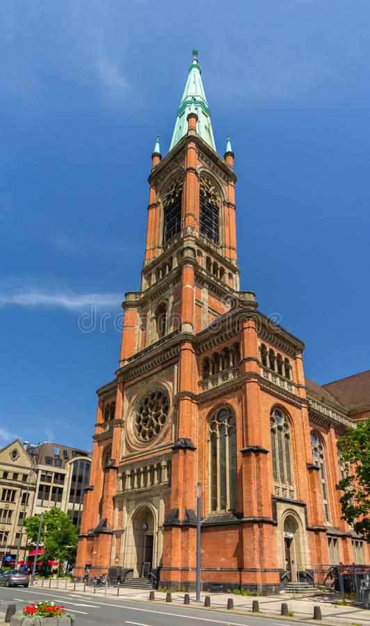 Johannes Church (Johanneskirche) i Dusseldorf arkivbild