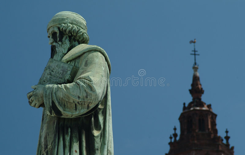 Johannes Gutenberg photo stock