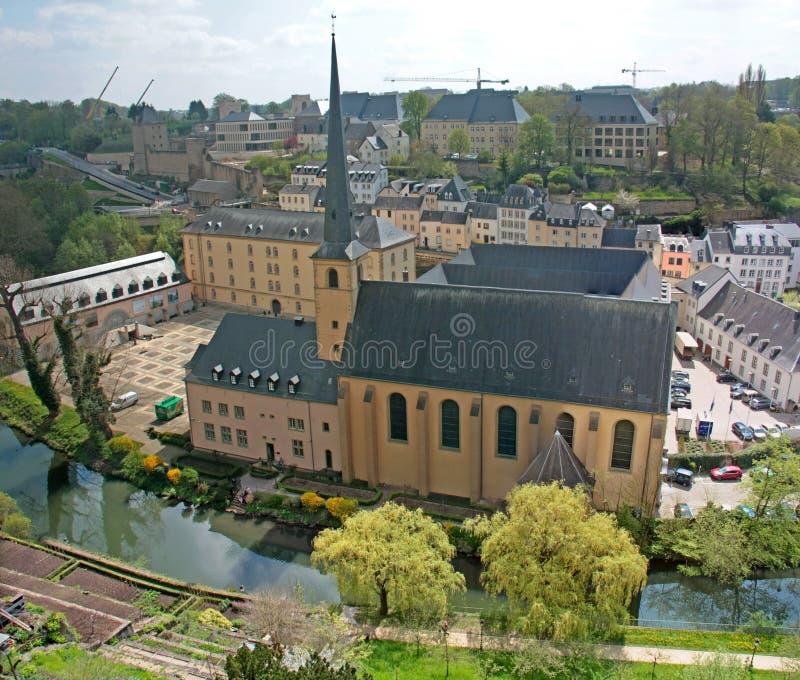 Johannes Kirche in Luxemburg stockbilder