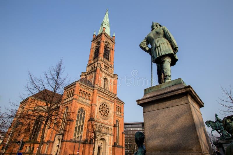 Johannes kyrka duesseldorf Tyskland fotografering för bildbyråer