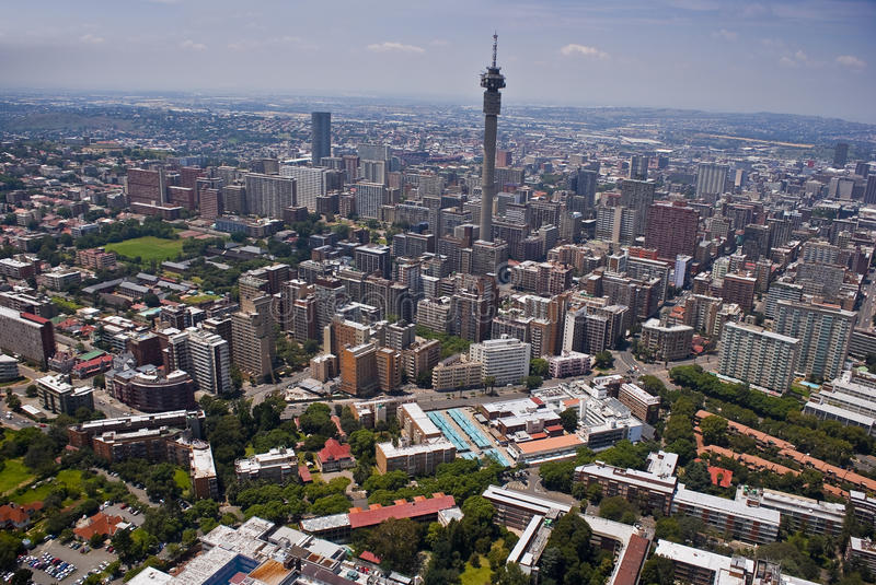 Johannesburg CBD - Aerial View - 3B royalty free stock photos