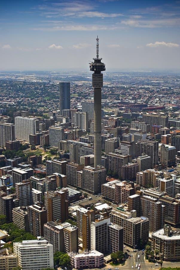 Johannesburg CBD - Luftaufnahme stockfoto