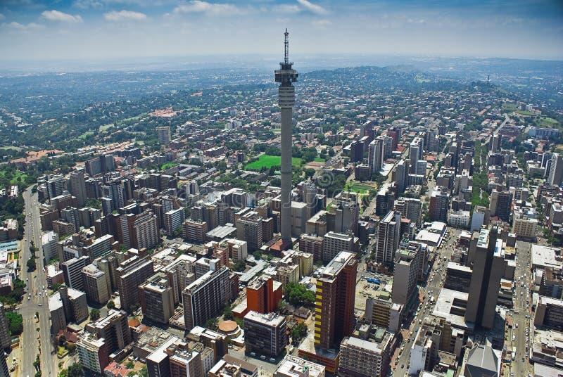 Johannesburg CBD - Vista aerea immagine stock libera da diritti