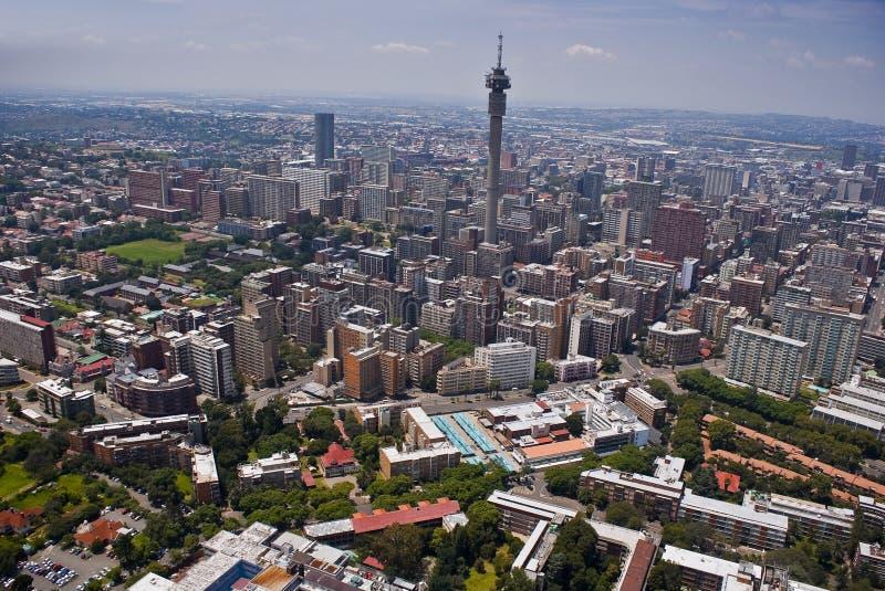 Johannesburg CBD - Vue aérienne - 3B photos libres de droits