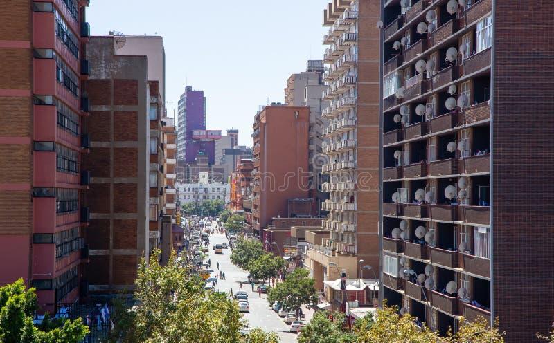 Johannesburg centrali linia horyzontu obraz stock