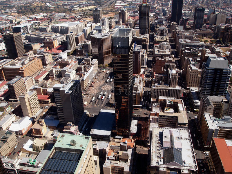 Johannesburg. City center. Cityscape of Johannesburg. City center. Panorama. South Africa royalty free stock images