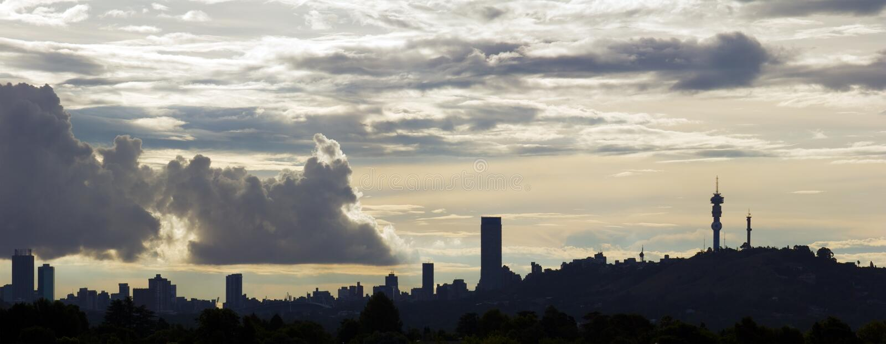johannesburg horisont royaltyfri fotografi