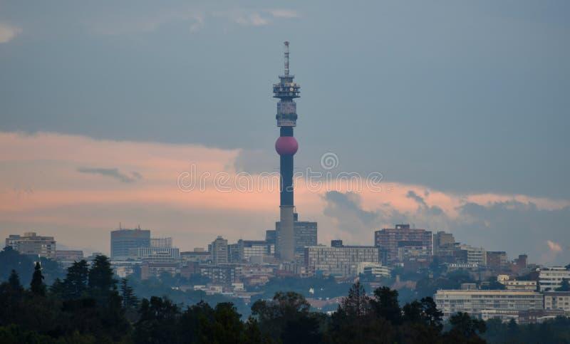 Johannesburg horisont arkivfoto