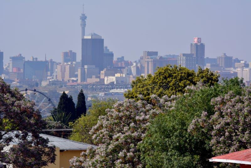 Johannesburg op een de Lentedag royalty-vrije stock fotografie
