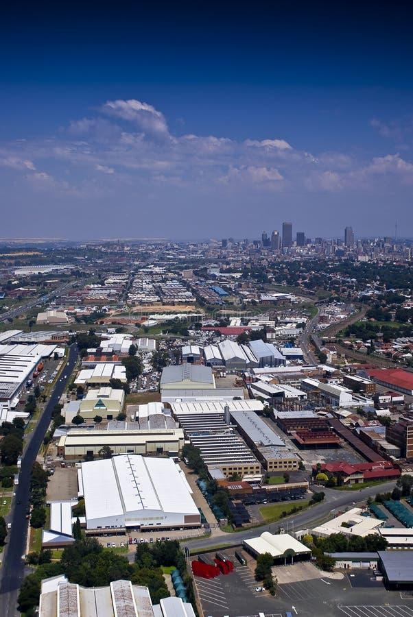 Johannesburg orientale con CBD nella priorità bassa fotografie stock libere da diritti