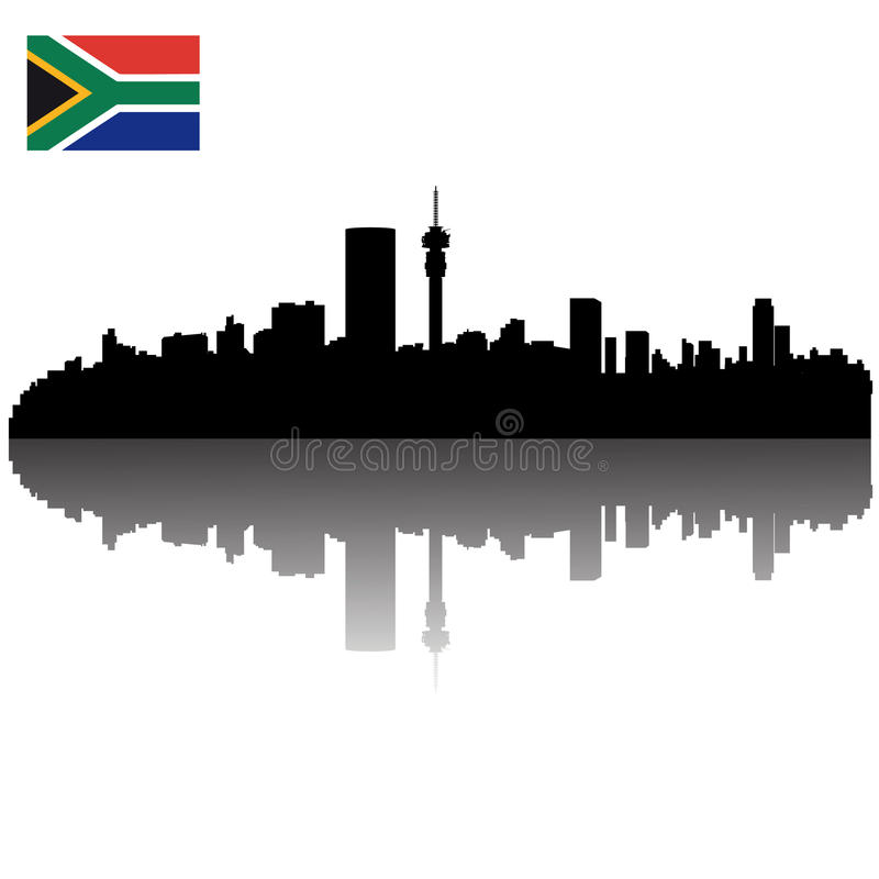 Download Johannesburg Silhouette Skyline Stock Vector - Illustration of illustration, place: 22245504