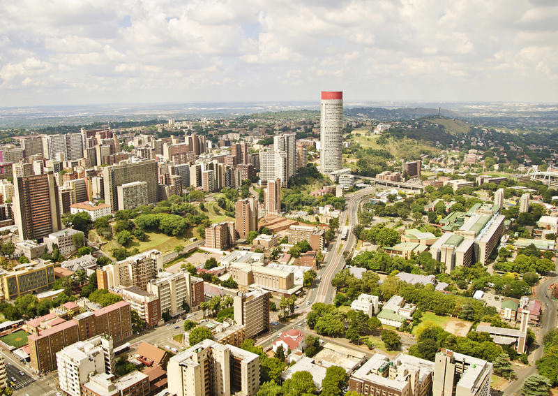 Johannesburg Skyline Areal view. A beautiful Johannesburg Skyline Areal view stock image