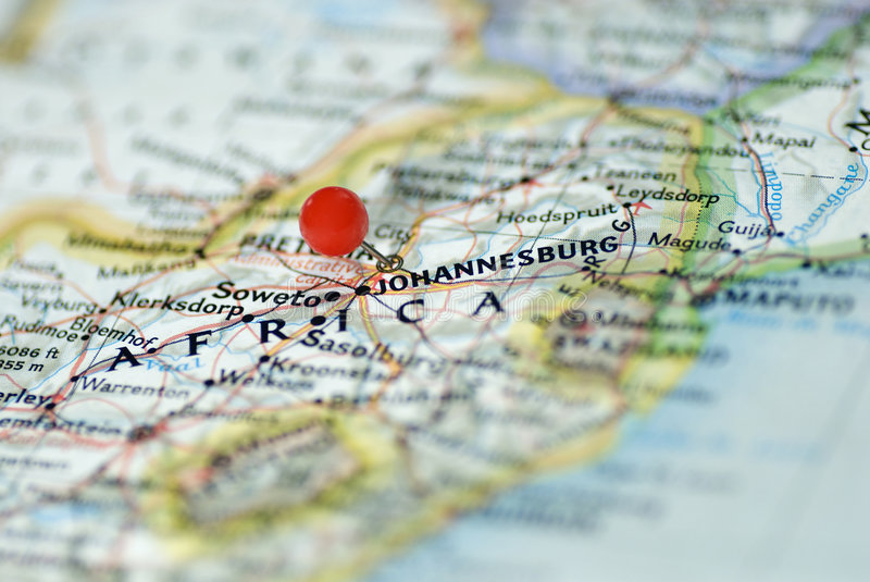 Johannesburg South Africa. Location map of Johannesburg South Africa stock image